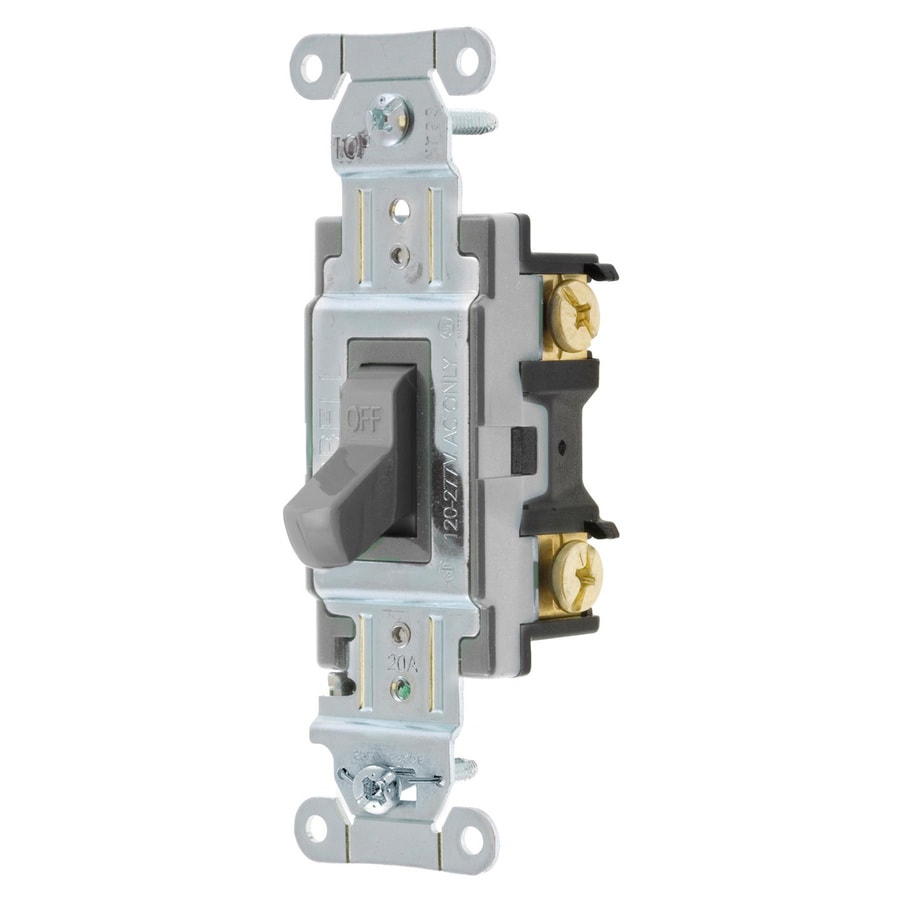 Shop Hubbell 15/20-amp Single-pole Gray Toggle Light Switch at Lowes.com