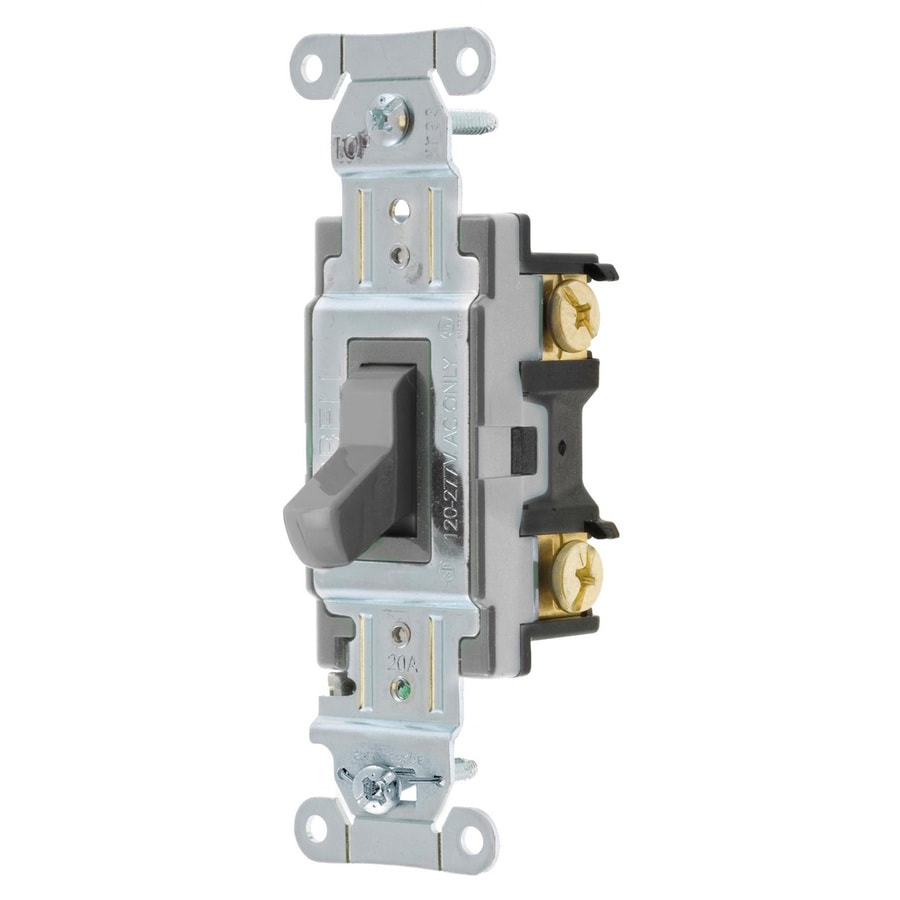 Hubbell 15/20-Amp 3-Way Gray Indoor Toggle Light Switch