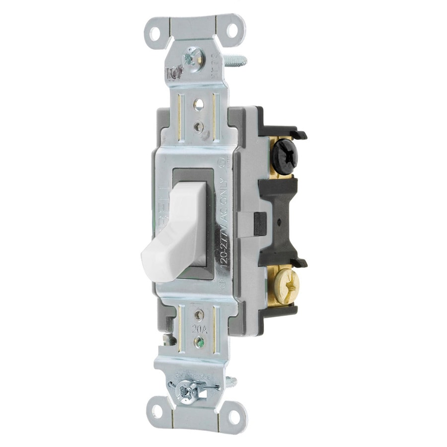 Shop Hubbell 1520amp 4way White Toggle Indoor Light Switch At - 4 Way Rocker Light Switch