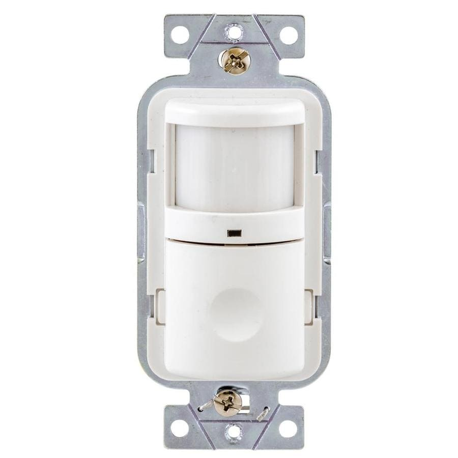 Shop Hubbell Single Pole 3 Way White Motion Occupancy Vacancy Sensor Mounted Security Light Wiring Diagram