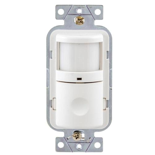 hubbell single-pole/3-way white 8-amp occupancy/vacancy motion sensor in  the light sensors department at lowes.com  lowe's