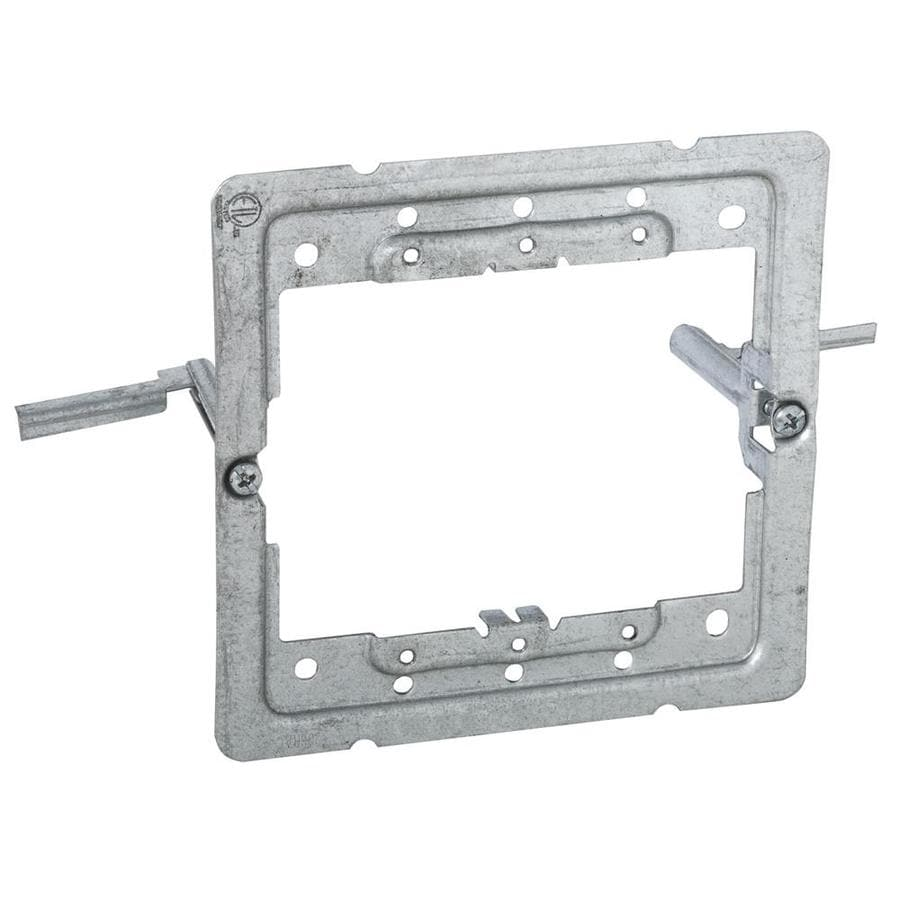 shop raco 2 gang silver metal new work old work interior wall electrical box mounting bracket at. Black Bedroom Furniture Sets. Home Design Ideas