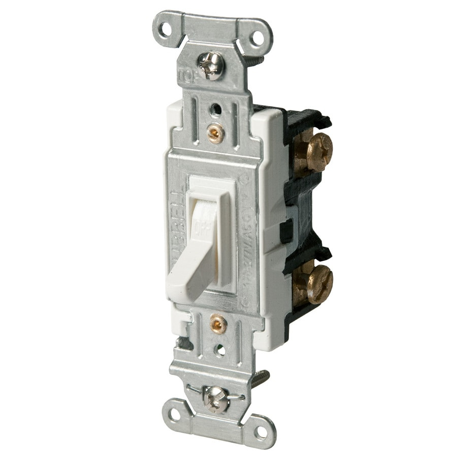 Hubbell 15 20 Amp Single Pole White Toggle Light Switch At Wiring Mistakes