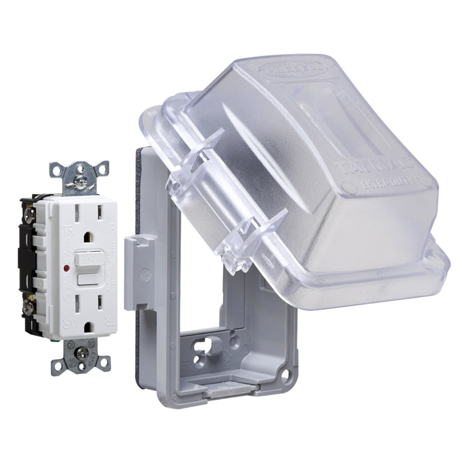 Shop Electrical Box Covers At Wiring A Outside Plug Hubbell Taymac 1 Gang Rectangle Plastic Weatherproof Cover