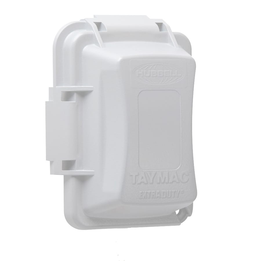 Hubbell TayMac 1-Gang Rectangle Plastic Weatherproof Electrical Box Cover