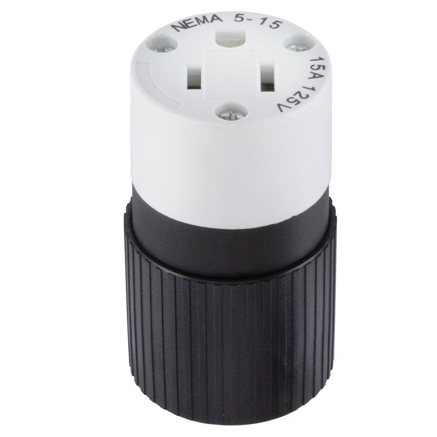 Hubbell 15-Amp 125-Volt Black/White 3-Wire Connector