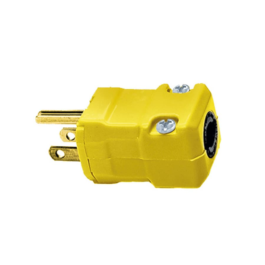 Hubbell 15-Amp 125-Volt Yellow 3-wire Grounding Plug