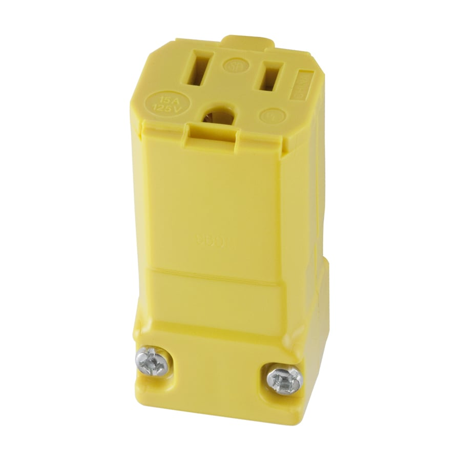 Cable Wire Connectors At Led Quick Connect Electrical Wiring Hubbell 15 Amp 125 Volt Hi Visibility Yellow 3 Grounding Connector
