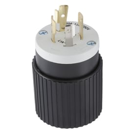 Hubbell 30-Amp-Volt Black/White 4-Wire Grounding Plug at ... on