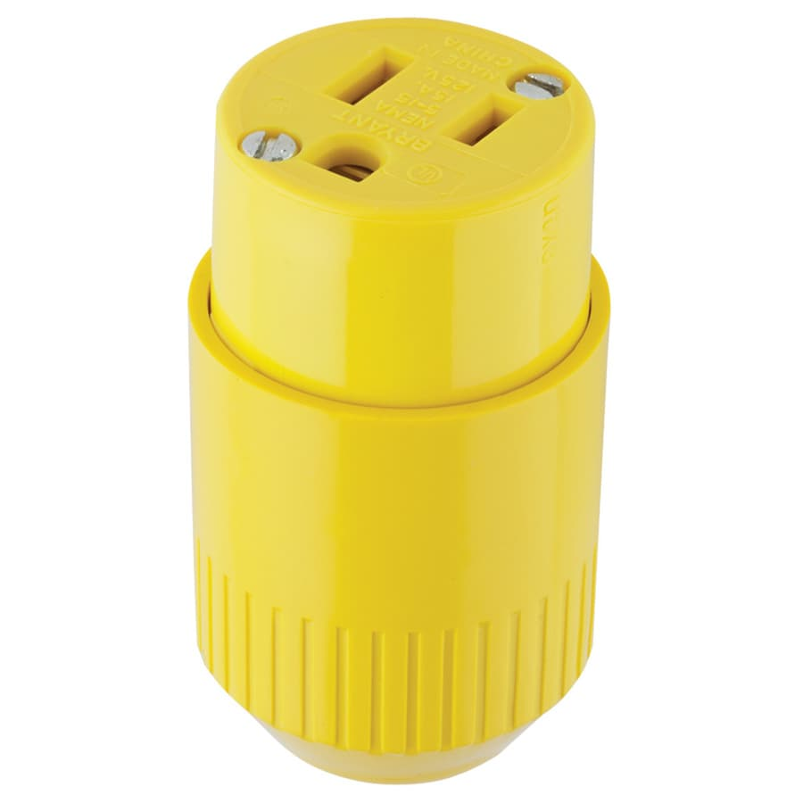 Hubbell 15 Amp 125-Volt Yellow 3-Wire Connector