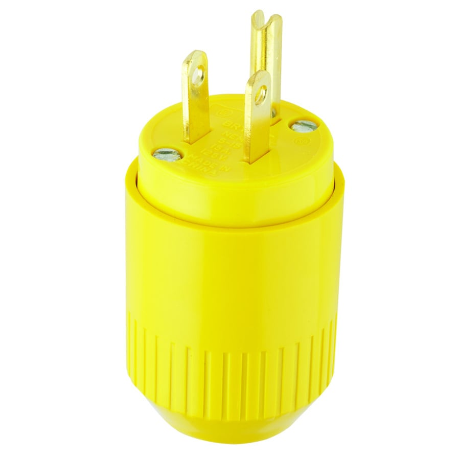 Cable Wire Connectors At Wiring An Electric Dryer Outlet Hubbell 15 Amp 125 Volt Yellow 3 Grounding Plug