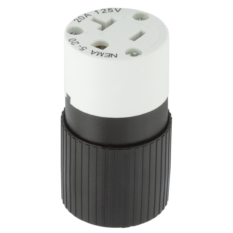 Hubbell 20-Amp 125-Volt Black/White 3-Wire Grounding Connector