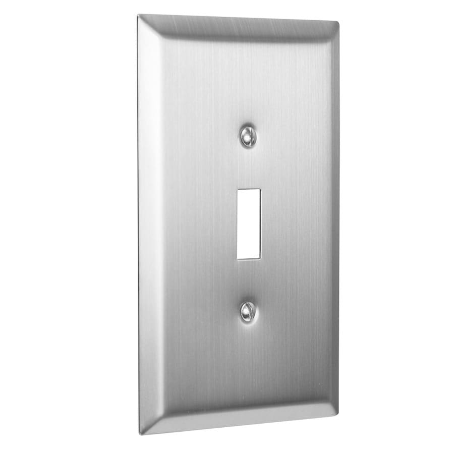 Hubbell Taymac 1 Gang Brushed Nickel Single Toggle Jumbo Wall Plate In The Wall Plates Department At Lowes Com