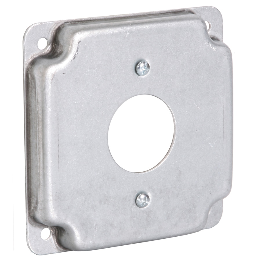 Raco 1-Gang Square Metal Electrical Box Cover