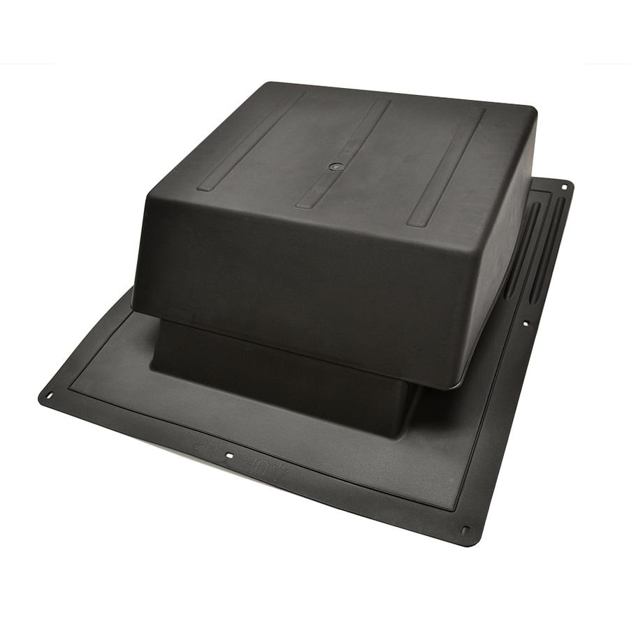 Master Flow 65 NFA Black Plastic Slant-Back Roof Louver