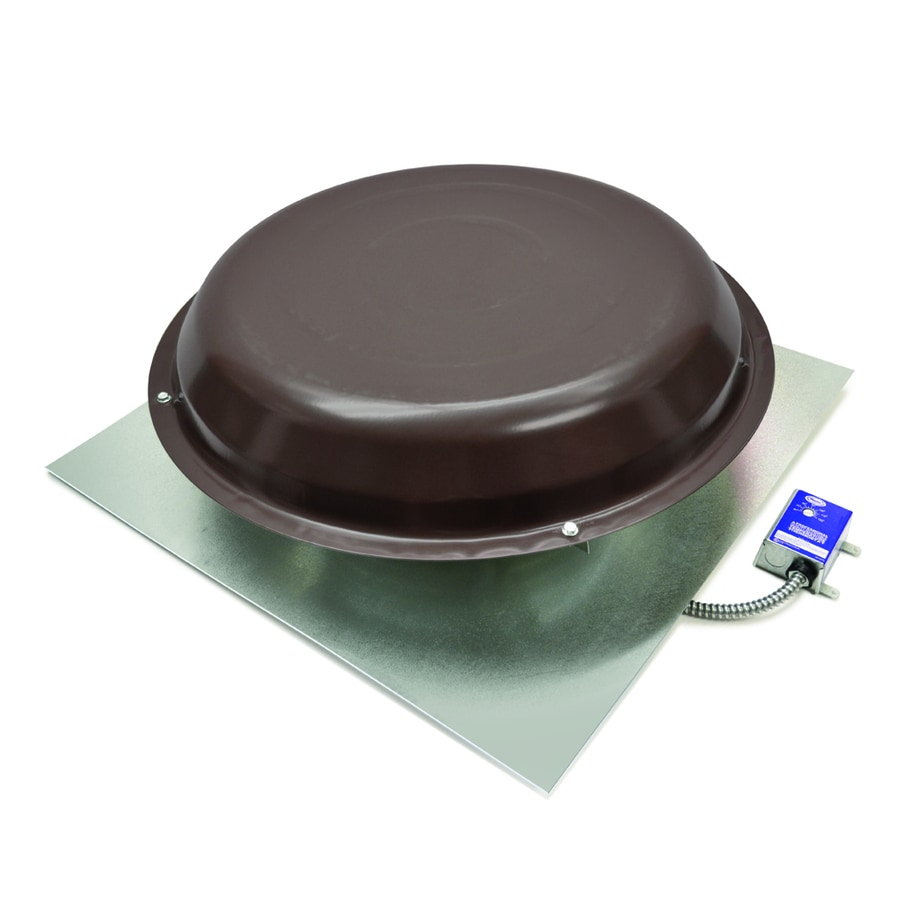Master Flow Electric Roof Vent 1250-CFM Brown Galvanized Steel Electric Power Roof Vent