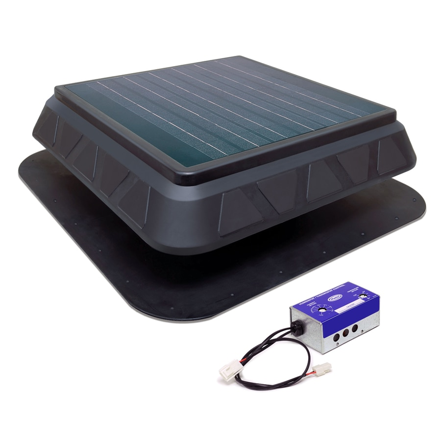 Master Flow 900 Cfm Black Plastic Solar Power Roof Vent At