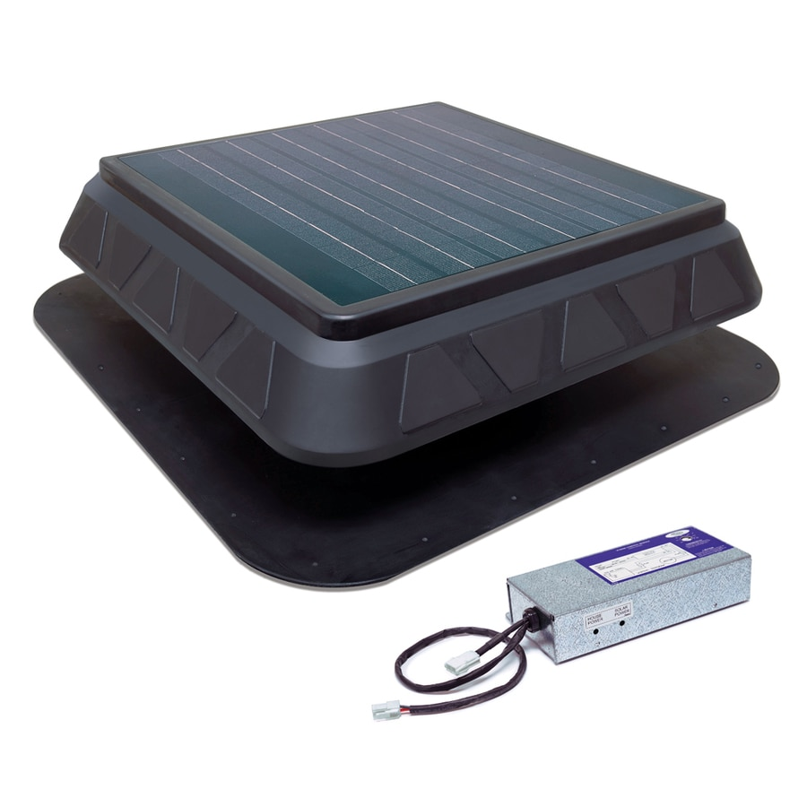 Shop Master Flow 900-CFM Black Plastic Solar Power Roof Vent at Lowes.com