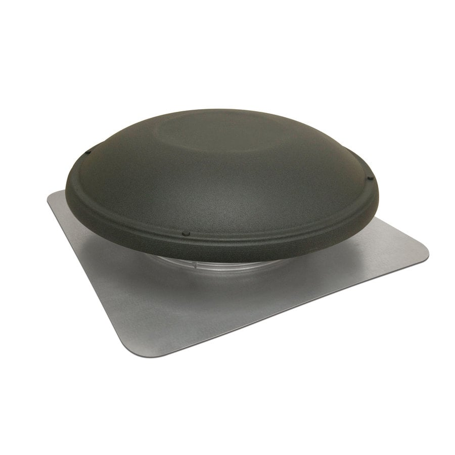 Master Flow Electric Roof Vent 1500-CFM Shinglematch Weathered Wood Galvanized Steel Electric Power Roof Vent