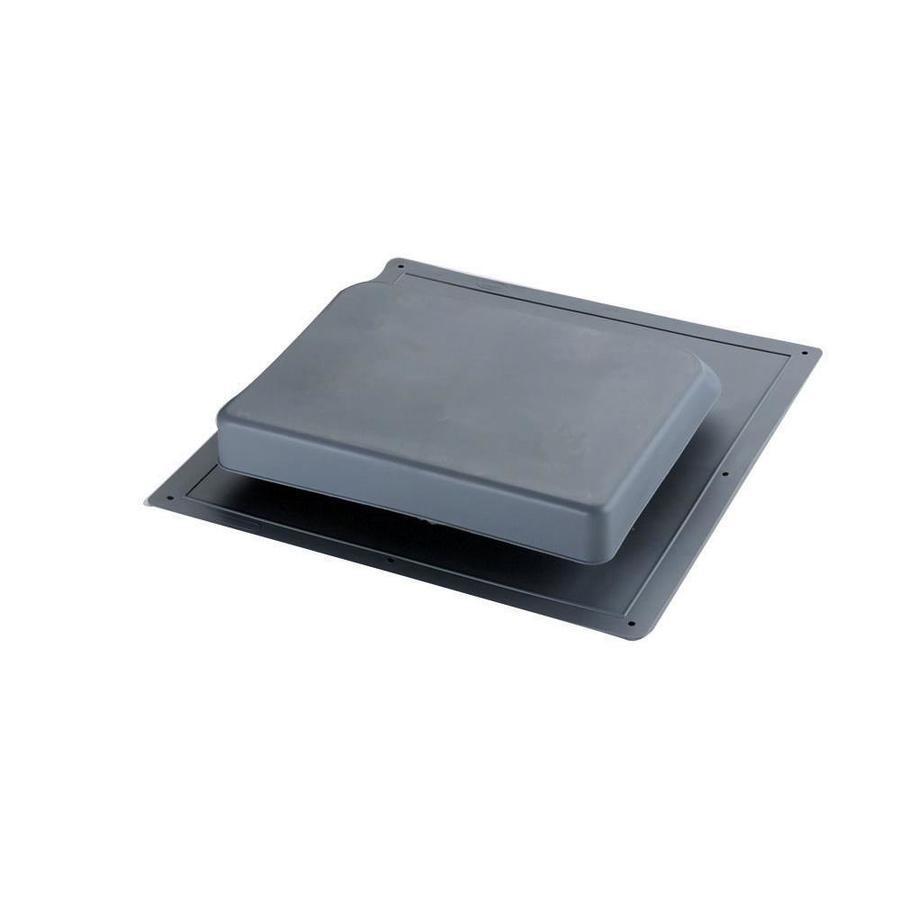 Master Flow 37 NFA Black Plastic Slant-Back Roof Louver