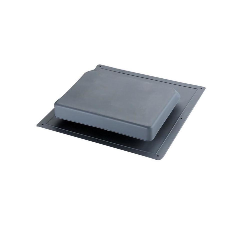 Master Flow 37 NFA Gray Plastic Slant-Back Roof Louver