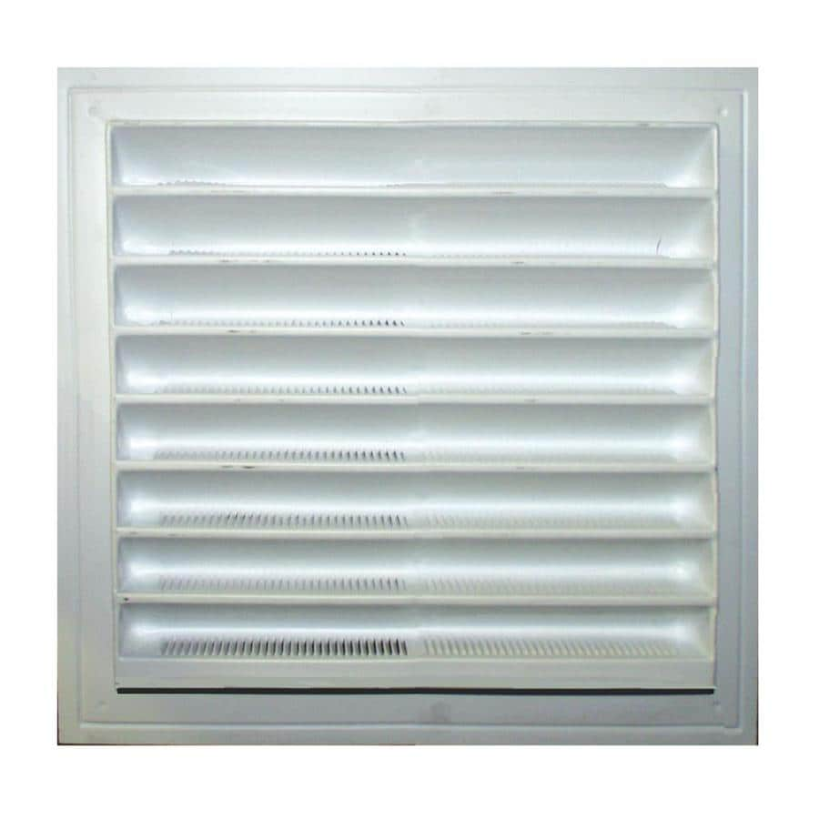 Master Flow 8-in x 8-in White Square Plastic Gable Vent