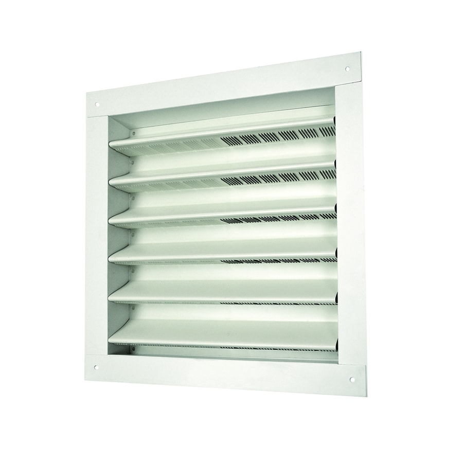 Master Flow 14.5-in x 14.68-in White Square Aluminum Gable Vent