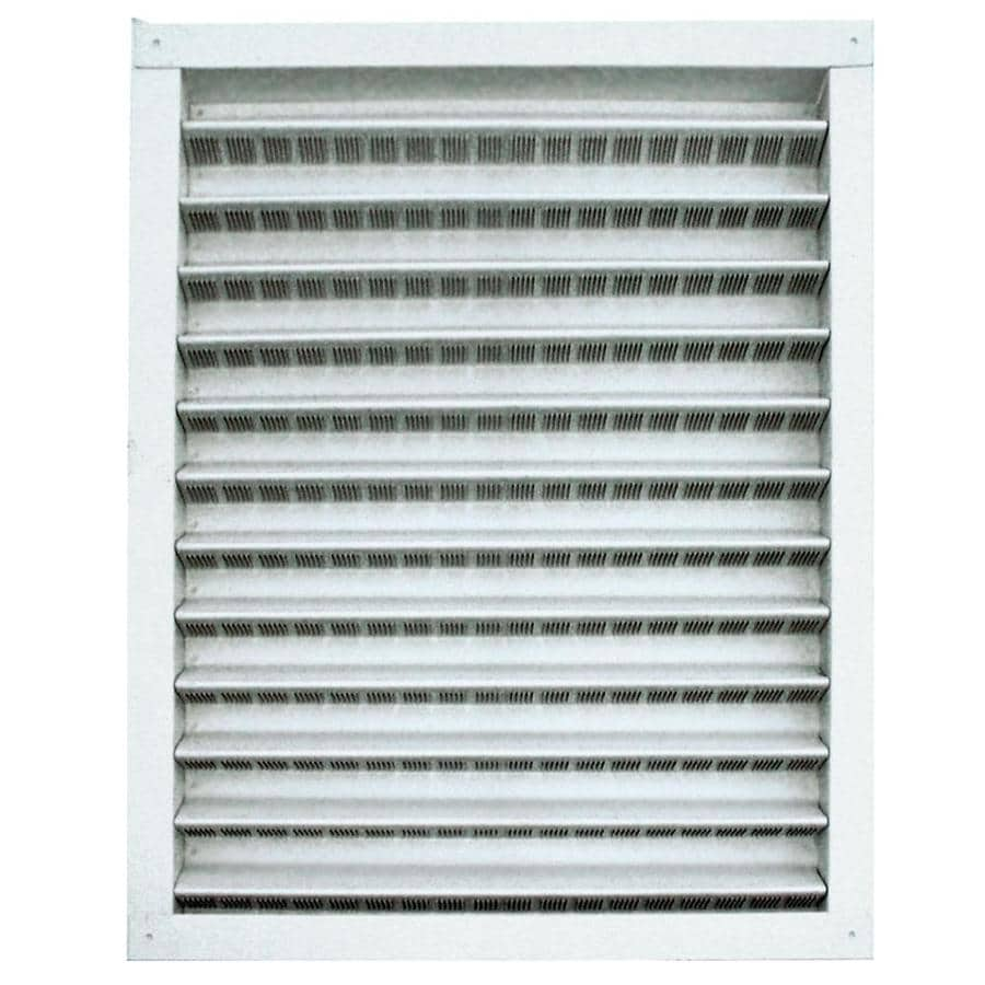 Master Flow Aluminum Static Gable/Wall Louver 12-in x 18-in White Rectangle Aluminum Gable Vent