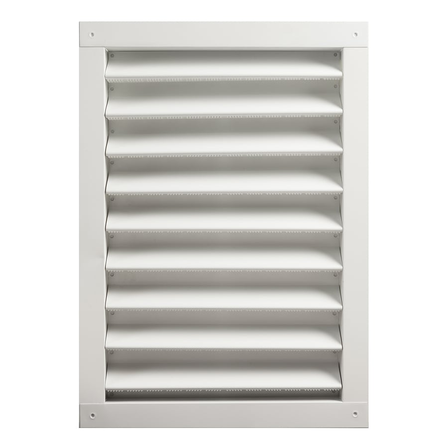 Master Flow 24-in x 30-in White Rectangle Aluminum Gable Vent