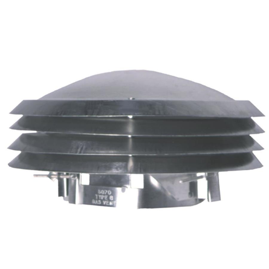 Master Flow Adjustable Versa Cap 5-in dia Aluminum Rain Cap