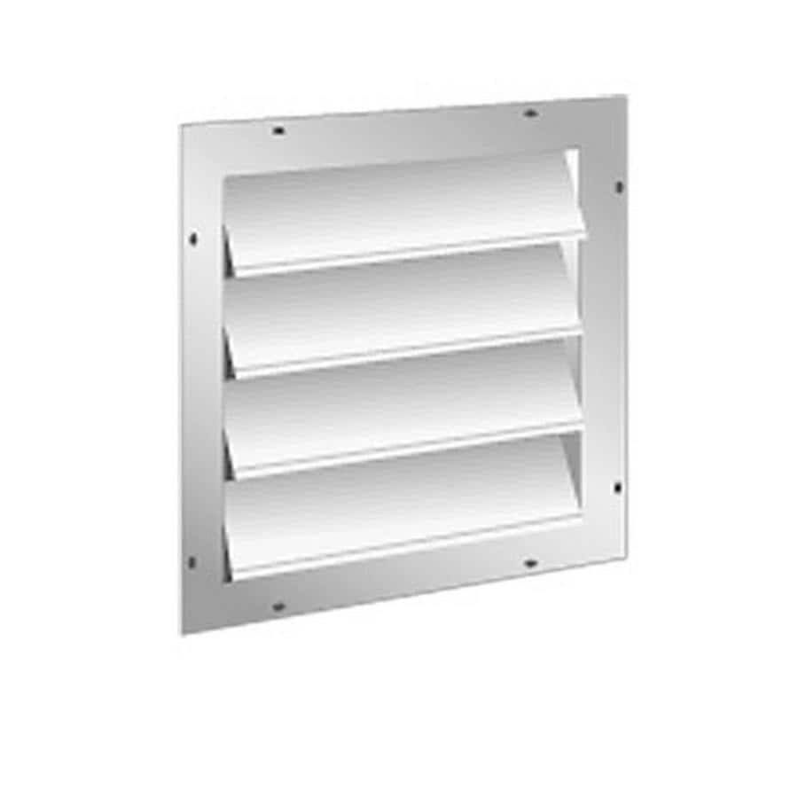 Master Flow Automatic Aluminum Shutter 16-in x 16-in White Square Aluminum Gable Vent