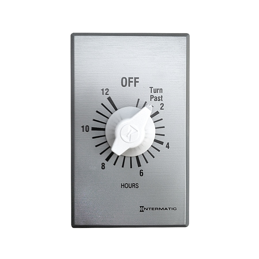 Master Flow WHF Accessory Silver 12-Hour Analog Whole House Fan Timer