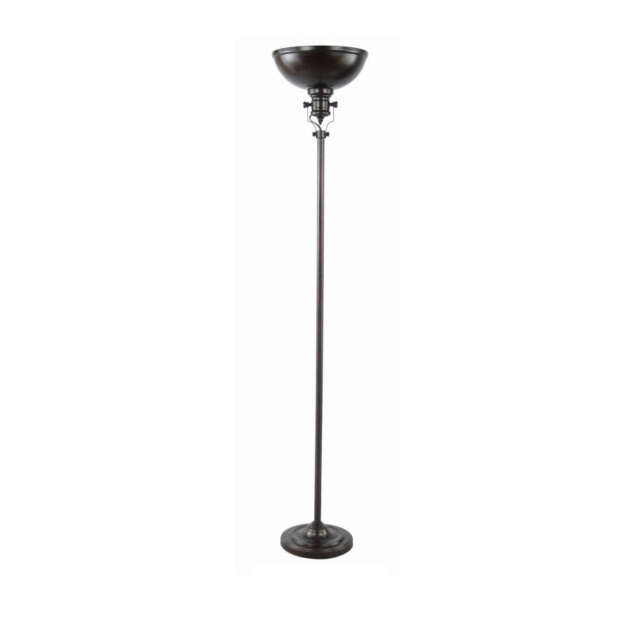 70-in 3-Way Switch Painted Oil Rubbed Bronze Torchiere Indoor Floor Lamp with Metal Shade