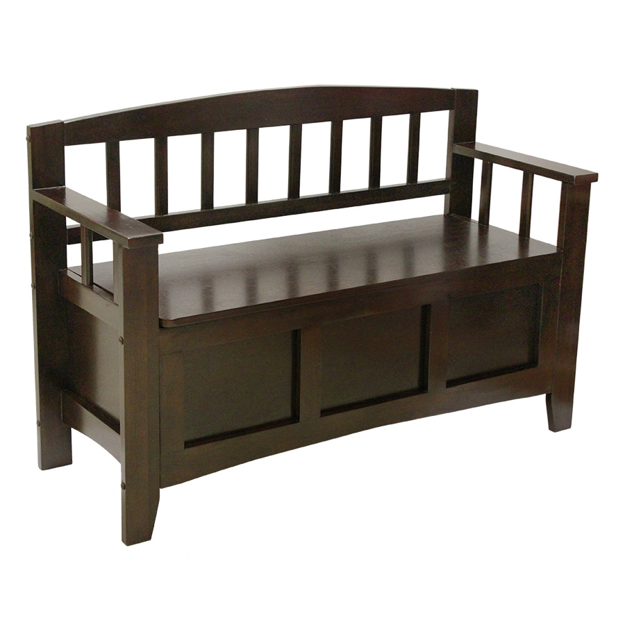 Shop Transitional Chocolate Storage Bench At