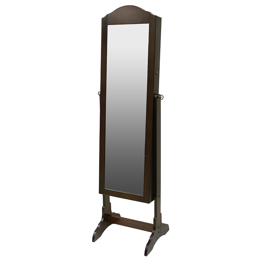 Shop chocolate cheval mirror jewelry armoire at for Mirror jewelry cabinet