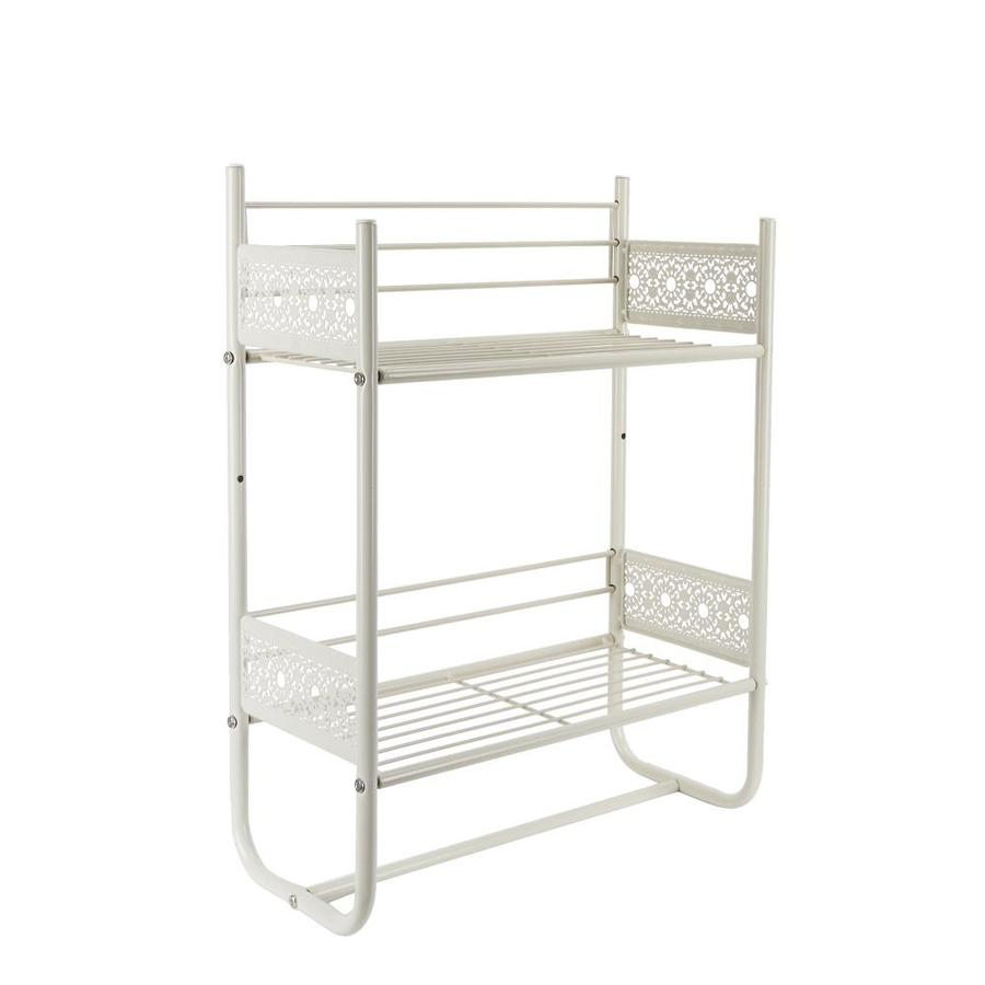 Filigree Bathroom Collection White Iron Bathroom Shelf