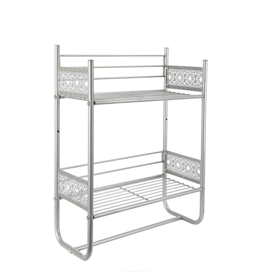 Filigree Bathroom Collection Nickel Iron Bathroom Shelf