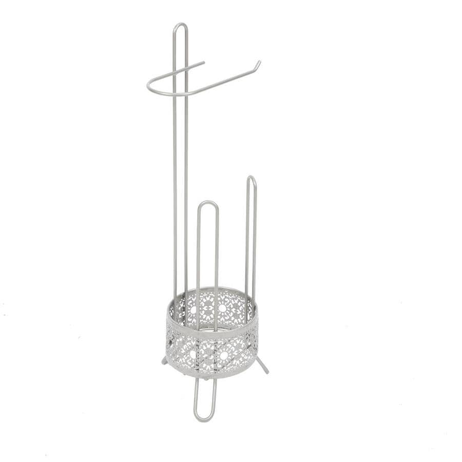 Filigree Bathroom Collection Nickel Freestanding Floor Single Post With Arm Toilet Paper Holder