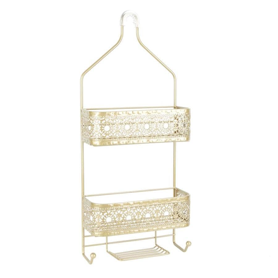 Shop 26-in H Over The Showerhead Steel Gold Hanging Shower Caddy at ...