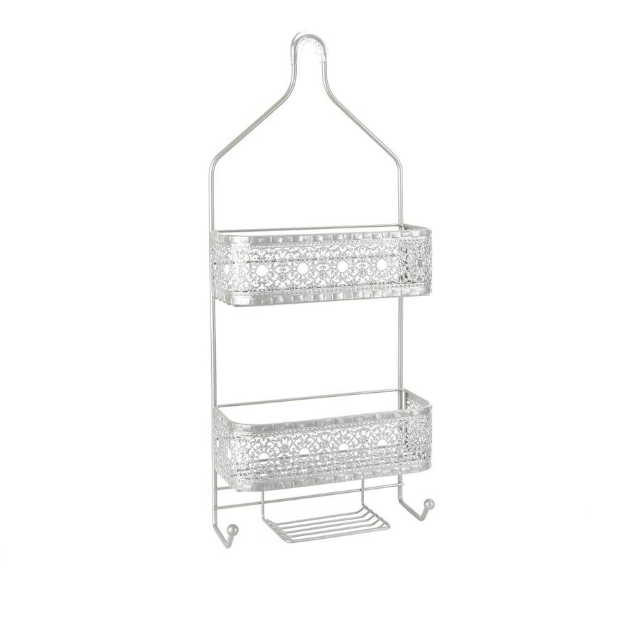 26-in H Over The Showerhead Steel Nickel Hanging Shower Caddy