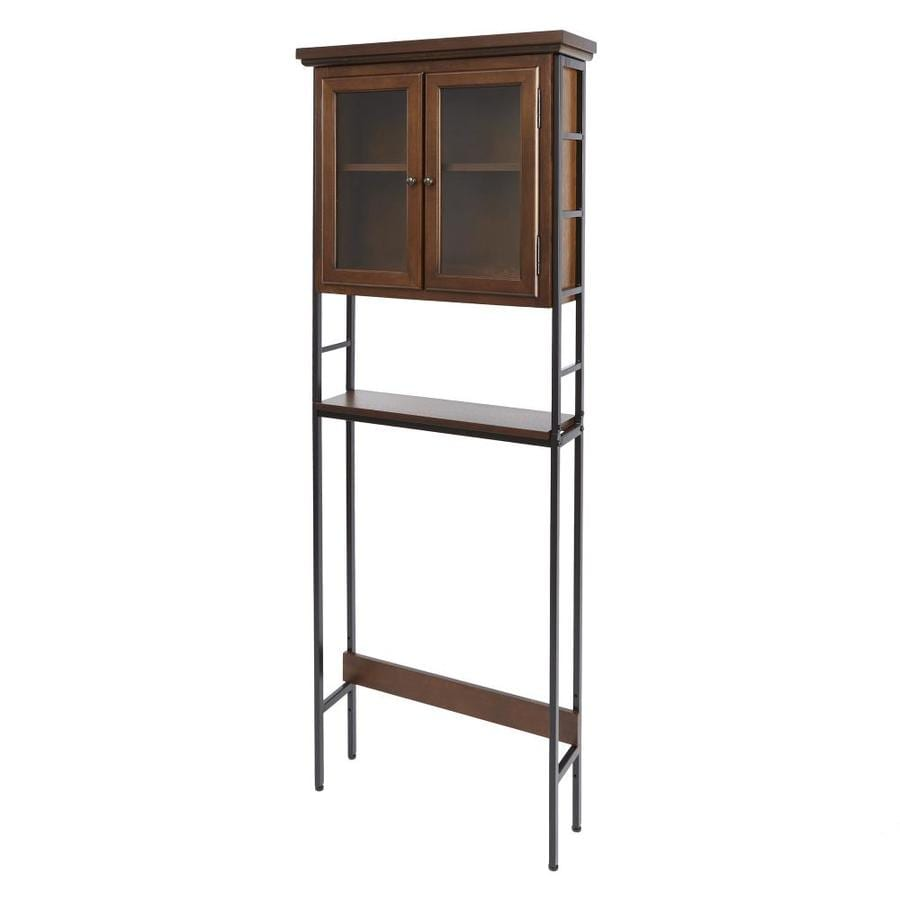 Leighton Bathroom Collection Espresso Wood Bathroom Shelf