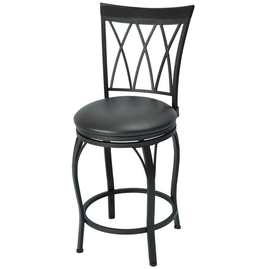 Bronze Adjustable Height Upholstered Swivel Bar Stool In The Bar Stools Department At Lowes Com