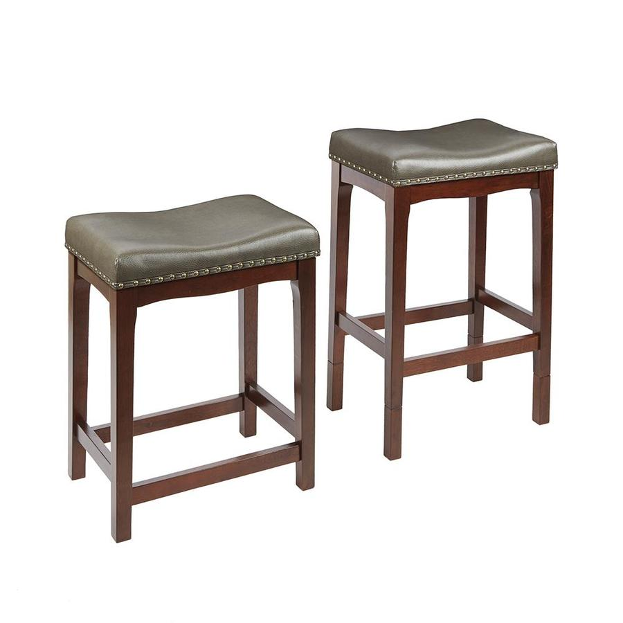 Set Of 2 Chocolate Adjustable Stools At Lowes Com