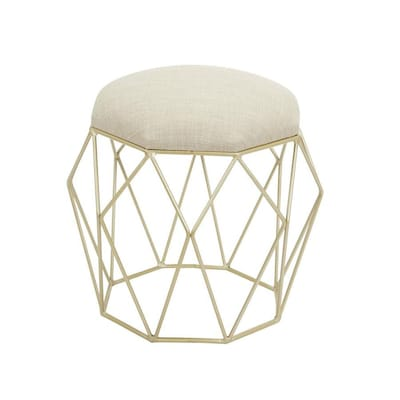 Excellent Cheyenne Products 18 In H Gold Round Makeup Vanity Stool At Creativecarmelina Interior Chair Design Creativecarmelinacom