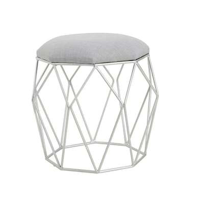 Prime Cheyenne Products 18 In H Silver Round Makeup Vanity Stool Creativecarmelina Interior Chair Design Creativecarmelinacom