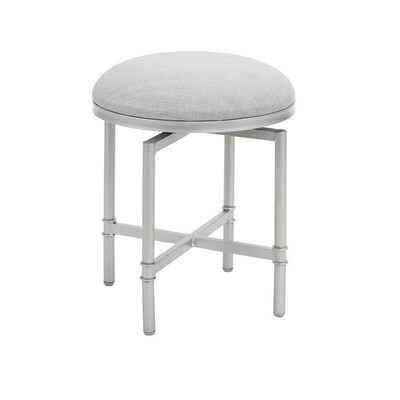 Amazing Cheyenne Products 18 In H Nickel And Grey Round Makeup Creativecarmelina Interior Chair Design Creativecarmelinacom