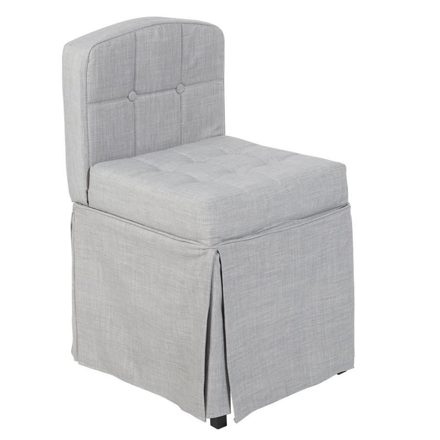 79eb6947cf87c Cheyenne Products 30 In H Grey Square Makeup Vanity Stool At Lowes Com