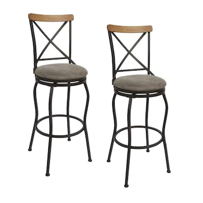 Amazing Set Of 2 Oil Rubbed Bronze Adjustable Stool At Lowes Com Creativecarmelina Interior Chair Design Creativecarmelinacom