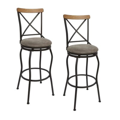Fantastic Set Of 2 Oil Rubbed Bronze Adjustable Stool At Lowes Com Short Links Chair Design For Home Short Linksinfo