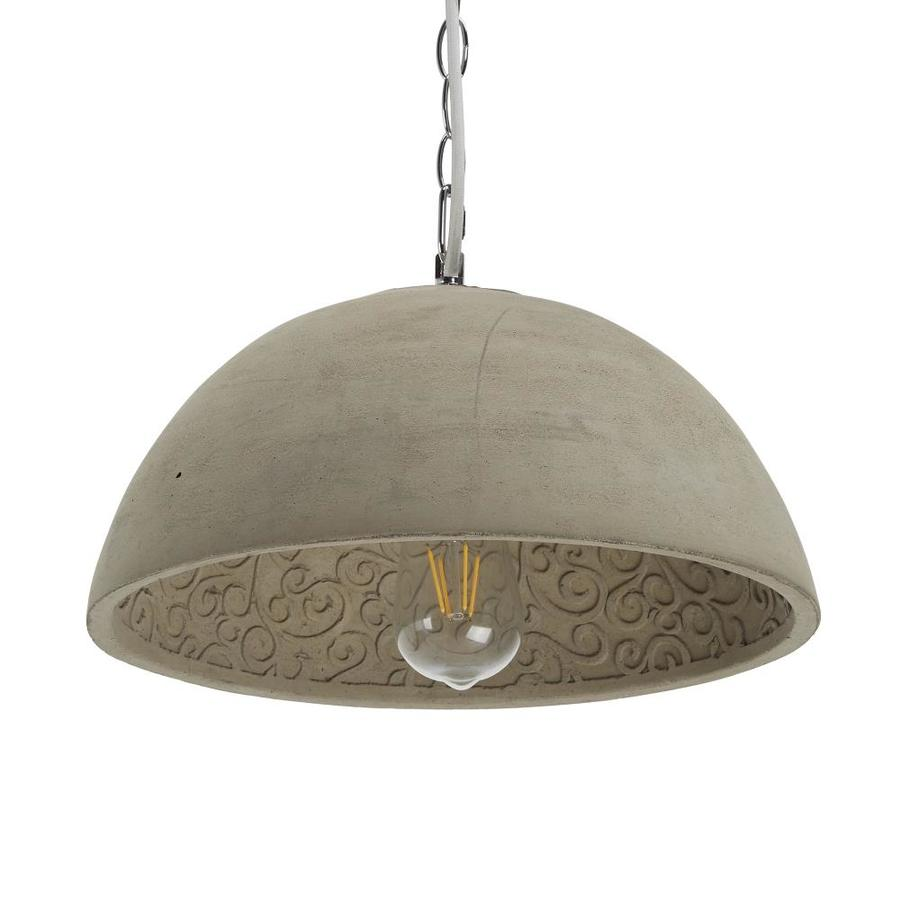Cheyenne Products Cement Transitional Bell Led Mini Pendant Light In The Pendant Lighting Department At Lowes Com